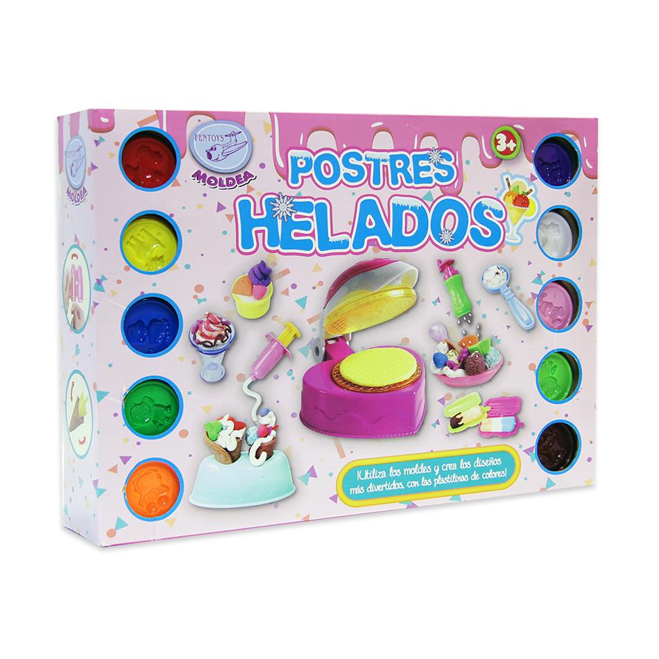 SET PLASTILINA HELADOS CON 10 BOTES 561-11778