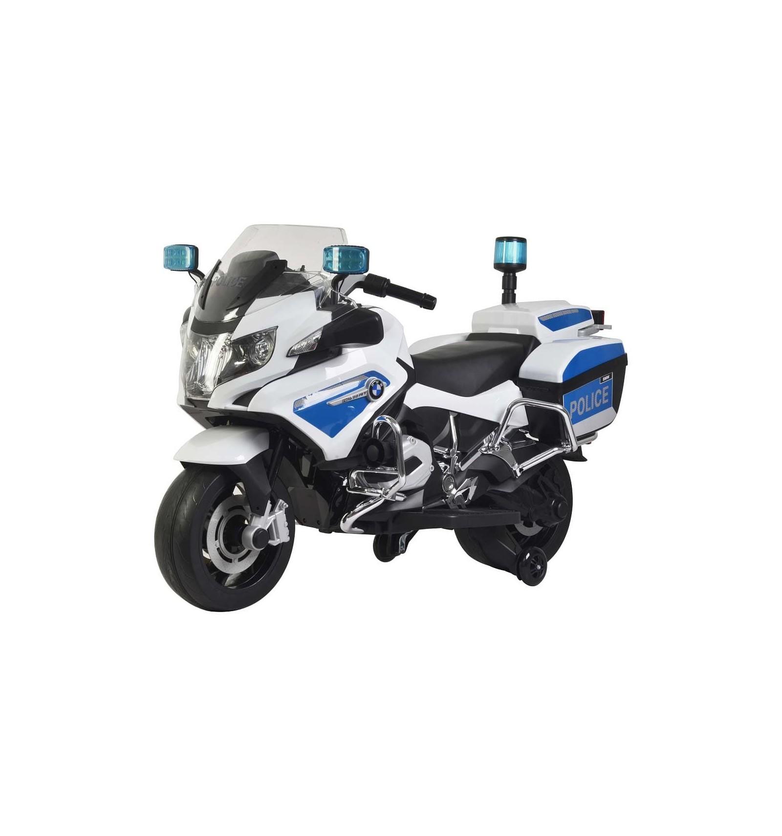 MOTO BMW R1200 RT POLICIA 12V BLANCO Y AZUL 4028