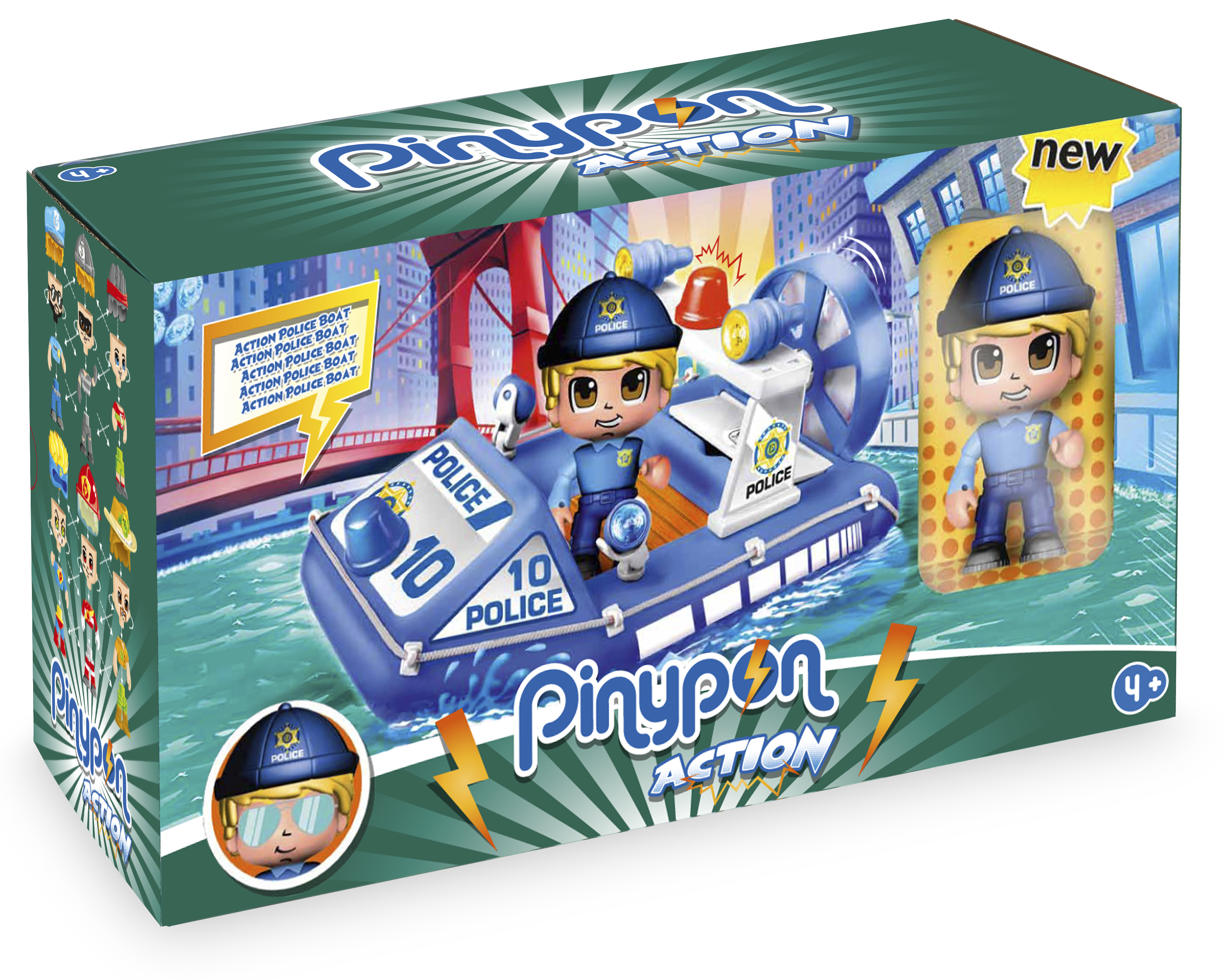 PINYPON ACTION SUPER POLICE BOAT 15588 V26520