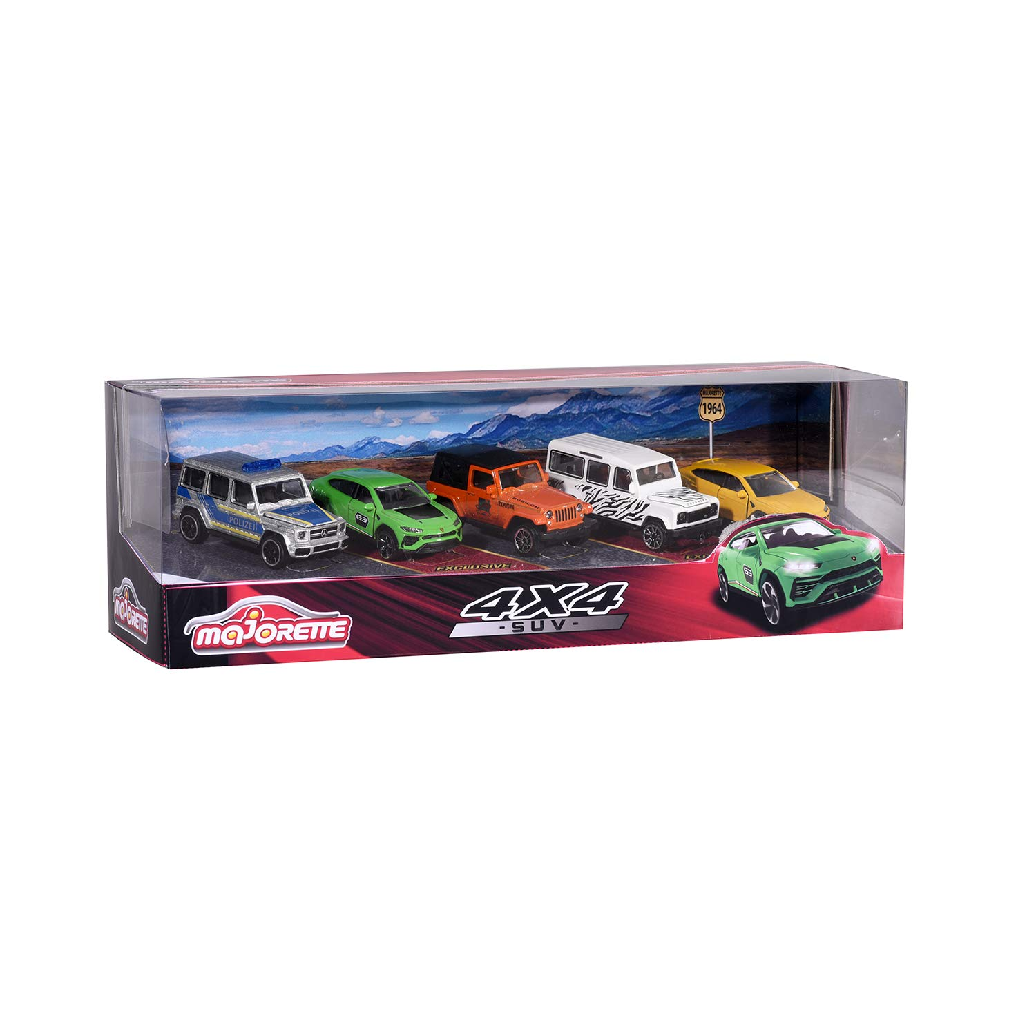 MAJORETTE GIFT PACK 5 COCHES 4X4 2053169