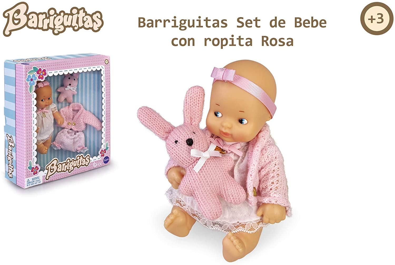 SET DE BEBE CON ROPITA ROSA BARRIGUITAS 15698