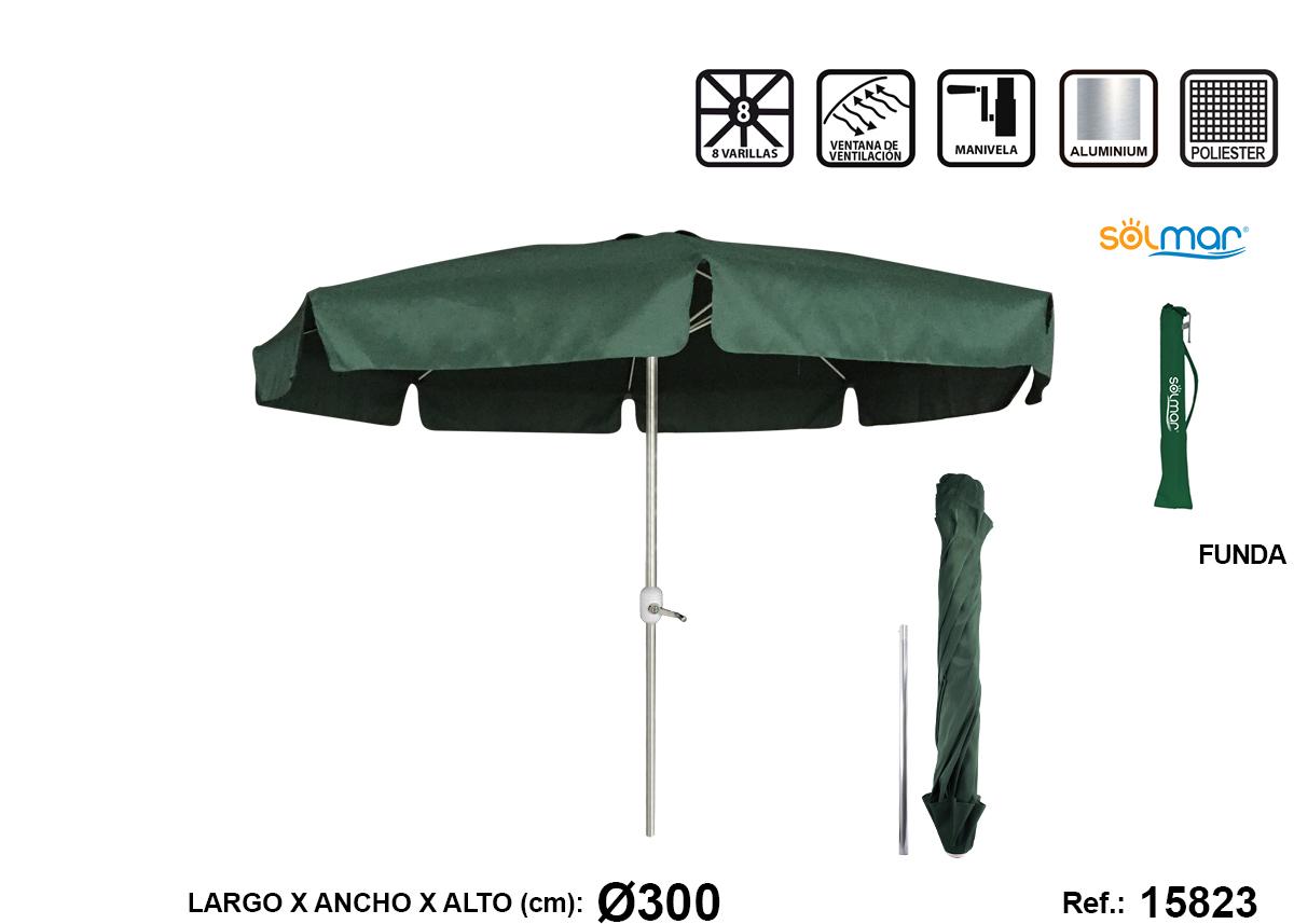 SOMBRILLA CON MANGO VERDE ALUMINIO 15823