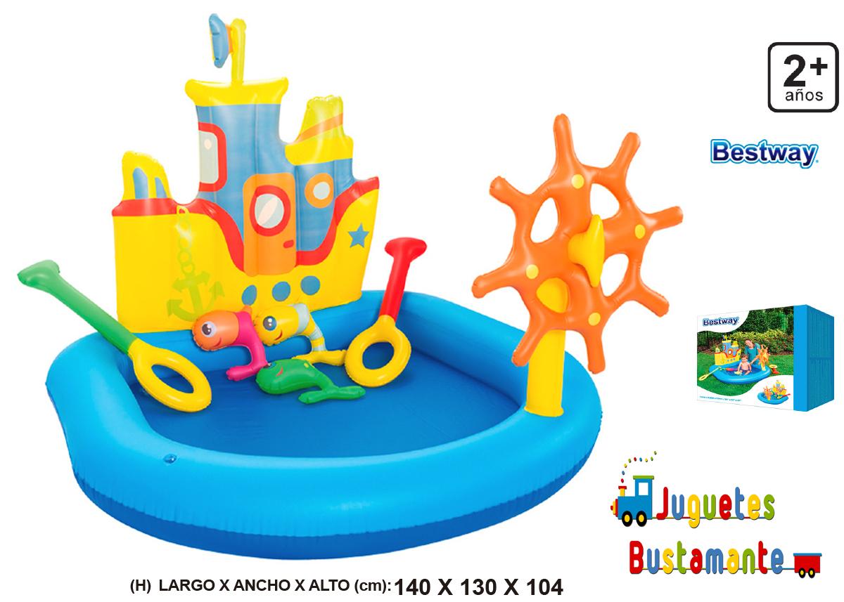 PISCINA JUEGO REMOLCADOR 148X138CM 18338