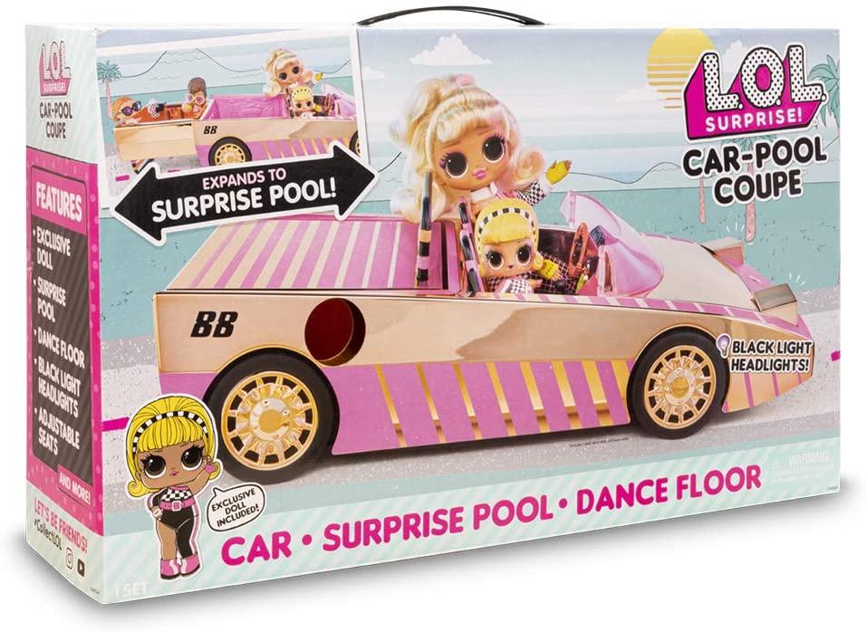 LOL CAR POOL COUPE CON MUÑECA LLUB7000