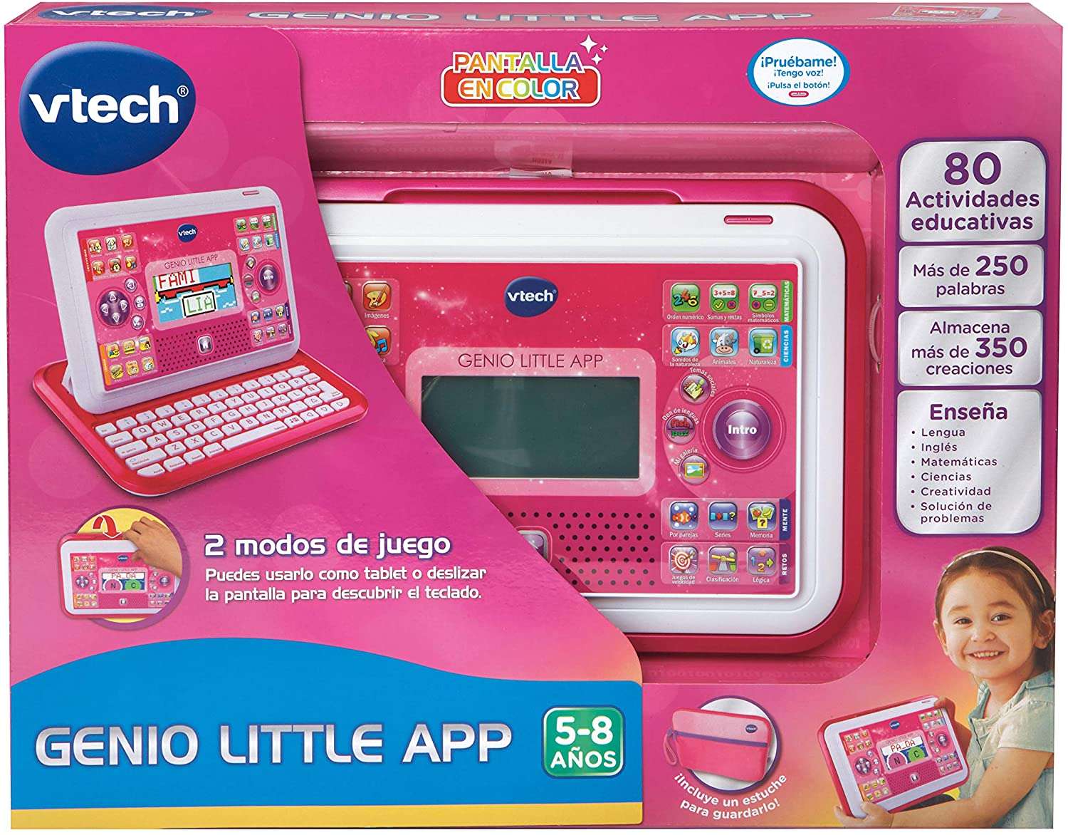 GENIO LITTLE APP PANTALLA COLOR ROSA 155557 - N93620