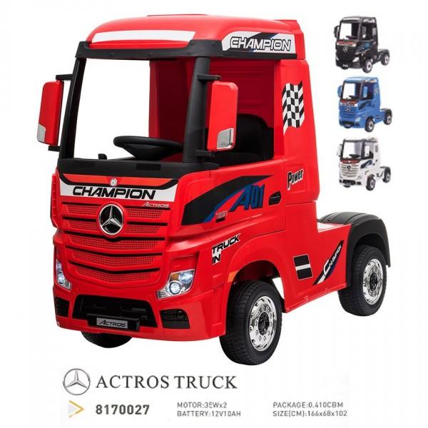 CAMION ROJO MERCEDES BENZ ACTROS RADIO CONTROL 12V MOTOR 336-8170027 RED