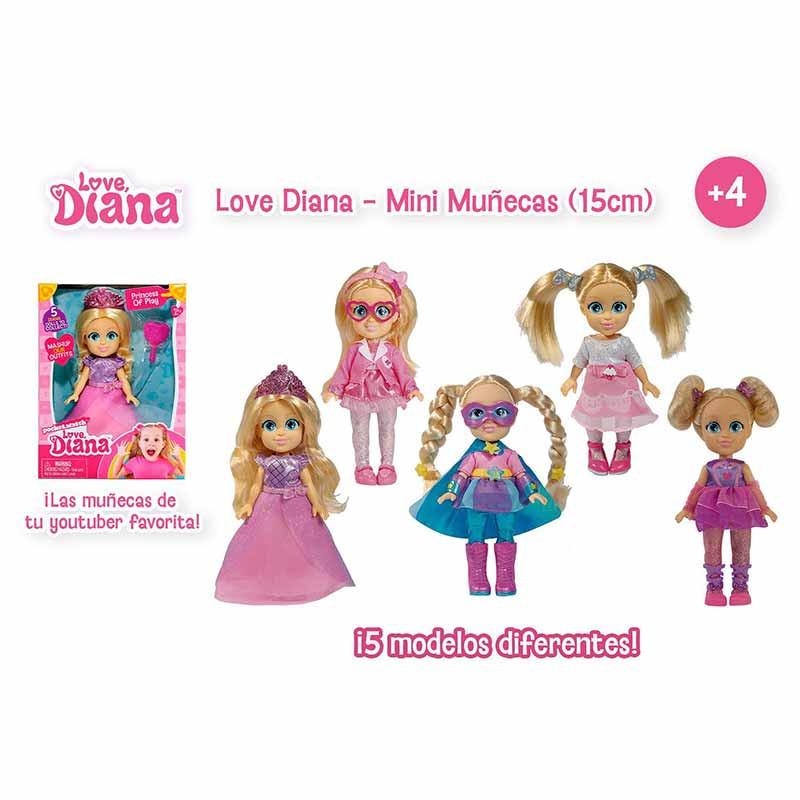 LOVE DIANA MINI MUÑECA 15CM LVE06000 - V44721