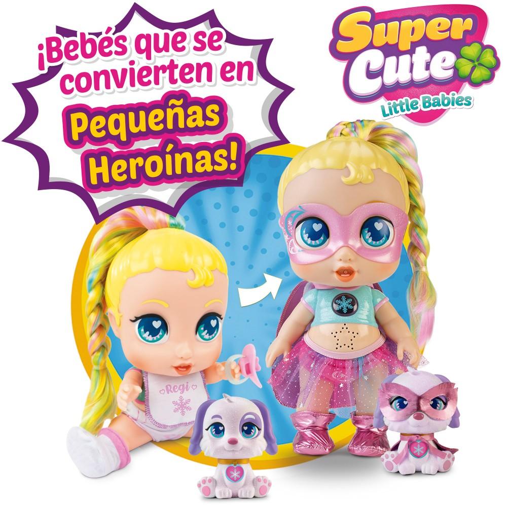 SUPER CUTE MUÑECA SUPERHEROINA REGI CON MASCOTAS Y ACCESORIOS 46763