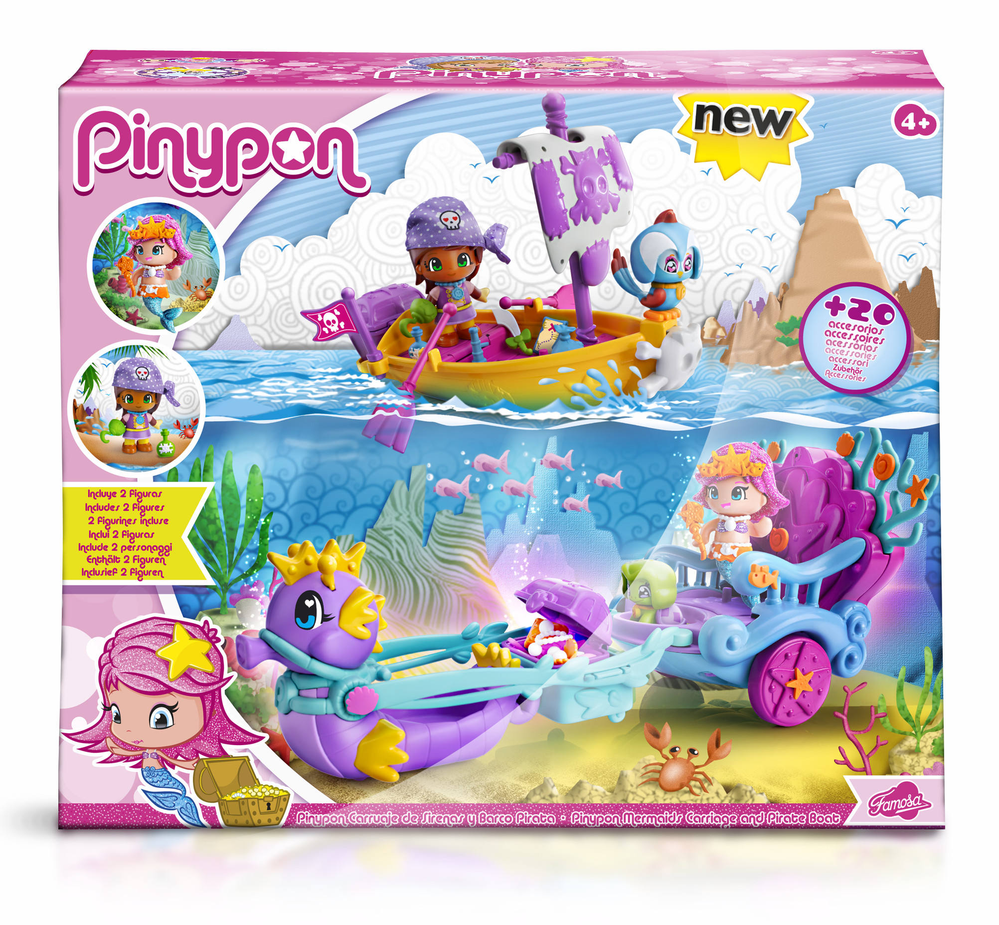 PINYPON CARROZA DE SIRENAS Y BITE PIRATA 13367