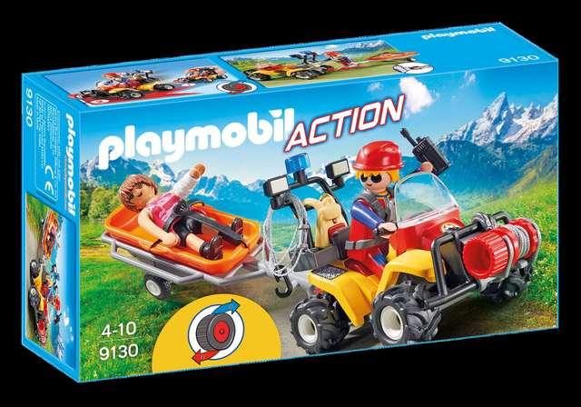 Playmobil-9130 Quad de Rescate de Monta/ña 9130