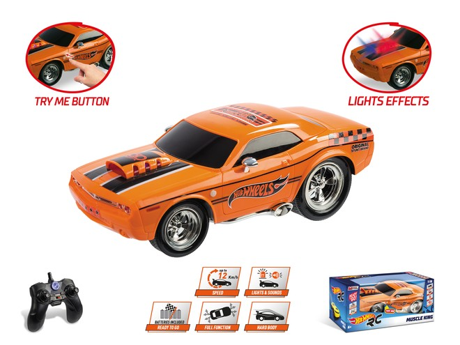 COCHE R/C HOT WHEELS MUSCLE KING 63507 - N16919