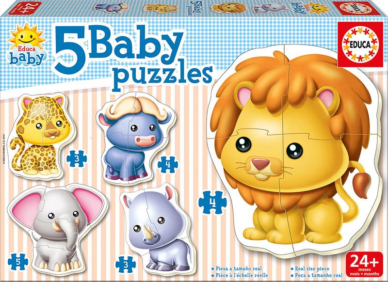 BABY PUZZLES ANIMALES SALVAJES 14197