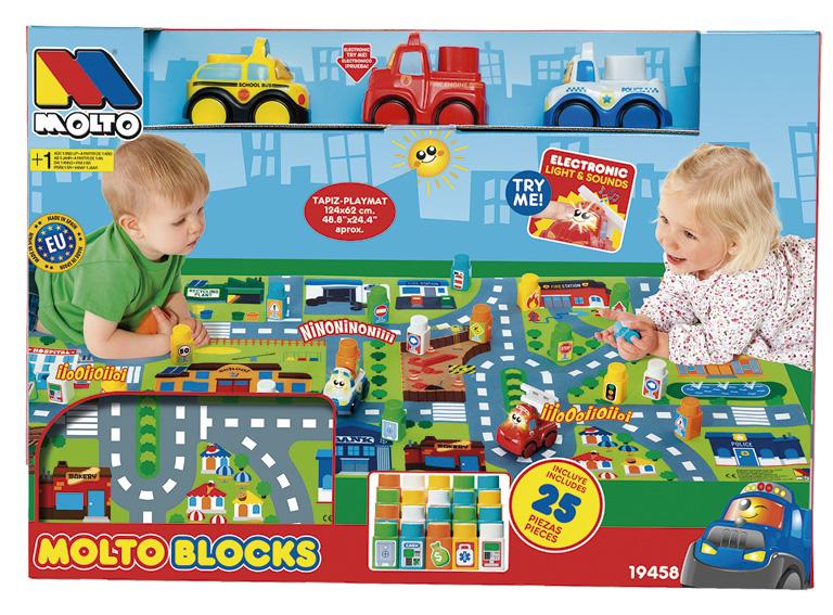 SET BLOCKS CARS +TAPIZ 24 PIEZAS 19458 - N70820
